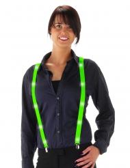 Grüne LED Hoseträger für Erwachsene
