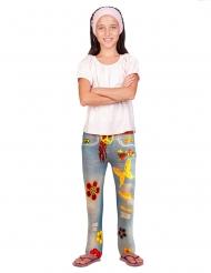 Flippige Blumen-Leggings für Mädchen bunt