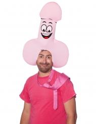 Witziger Penis-Hut für Erwachsene rosa