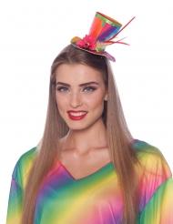 Miniatur-Clownshut Batik-Muster Kostüm-Accessoire bunt