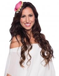 Miniatur-Sombrero Accessoire für die Sommertage rosafarben