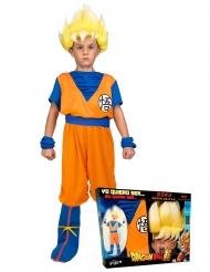 Super Saiyan Goku Dragon Ball™-Lizenzkostüm für Kinder orange-blau