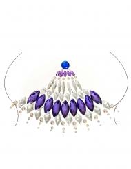 Zauberhafte Glitzer-Steine für die Haut lila-weiss-blau