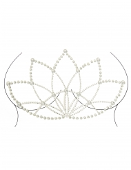 Selbstklebende Strasssteine Lotusblüte Körperschmuck für Damen silberfarben