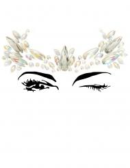 Strasssteine Gesichtsschmuck Krone für Erwachsene selbstklebend