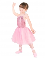 Ballerina-Mädchenkostüm Tänzerin rosa