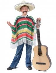 Mexikanischer Poncho Kostümzubehör bunt