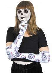 Dia de los muertos-Handschuhe Kostüm-Accessoire bunt