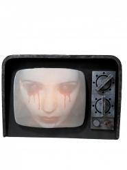 Gruseliger Heimgesuchter-Fernseher animiert mit Licht und Sound schwarz 12x31x21cm
