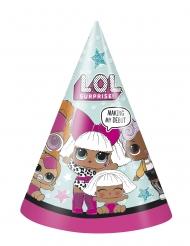LOL Surprise™-Hüte für Kindergeburtstage 8 Stück bunt
