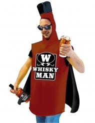 Whisky Man Humorvolles Herrenkostüm braun-schwarz-weiss
