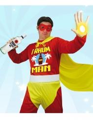 Superheld I Rhum Man humorvolles Herrenkostüm rot-gelb
