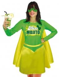 Superheldin Miss Mojito Damenkostüm grün-gelb
