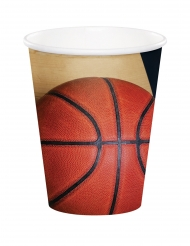 Basketball-Trinkbecher für Sportler 8 Stück bunt 266ml