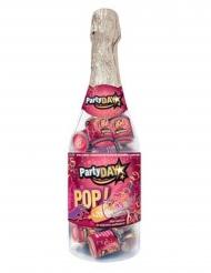 Champagnerflasche mit Konfetti 20 Stück Partyzubehör bunt 31x9cm