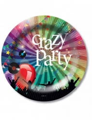 Pappteller Crazy Party 6-teilig 23cm