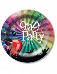 Pappteller Crazy Party 6-teilig 23cm