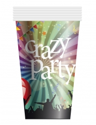 Pappbecher Crazy Party 6-teilig bunt 25cl