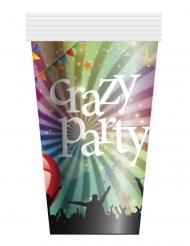 Pappbecher Crazy Party 6-teilig bunt 25cl