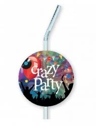 Crazy Party-Strohhalme Tischzubehör 6 Stück bunt