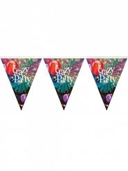 Crazy Party Girlande Raumdekoration Geburtstag bunt 3,6m