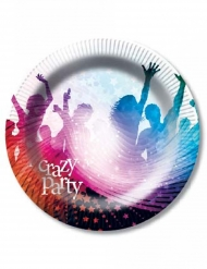 "Pappteller ""Crazy Party"" 6-teilig 23cm"