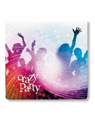 Crazy Party-Papierservietten Tischzubehör 20 Stück bunt 33x33cm