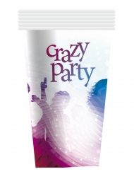 Pappbecher Crazy Party 6-teilig blau-lila 25cl
