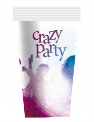 Pappbecher Crazy Party 6-teilig blau-lila 25cl