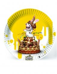 Die Rabbids™-Pappteller Tischzubehör für Partys 6 Stück bunt 23cm
