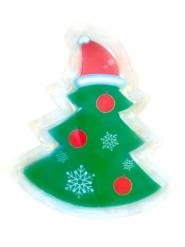 Weihnachtsbaum LED-Sticker Deko grün-weiss-rot 10x7cm