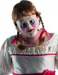 Annabelle™-Maske mit Perücke Halloween-Lizenzartikel beige-braun