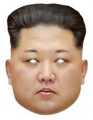 Kim Jong Un-Präsidentenmaske aus Pappmaske beige-schwarz