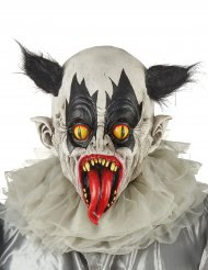 Zombie-Clown-Maske für Erwachsene aus Latex schwarz-weiß