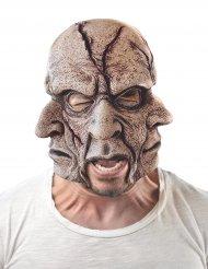 Antike Gottheit Dreigesicht-Maske aus Latex