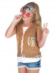 Hippie Weste für Mädchen mit Fransen Kostümzubehör braun