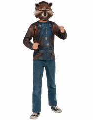 Rocket Raccoon™-Kostüm für Erwachsene Guardians of the Galaxy™blau-braun