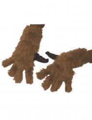Rocket Raccoon™-Handschuhe Marvel Lizenzartikel für Erwachsene braun