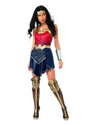 Wonder Woman™-Damenkostüm Lizenz-Verkleidung blau-rot-gold