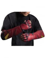 Flash™-Handschuhe Kostümzubehör Justice League rot-schwarz