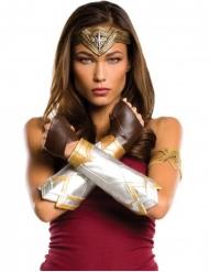 Wonder Woman™-Lizenz-Kostümset für Damen 5-teilig braun-silber-gold
