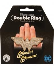 Wonder Woman™-Doppelring Schmuck Fasching gold-silber