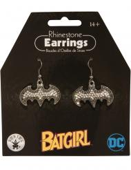 Batgirl™-Ohrringe für Damen Schmuck silber