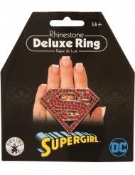 Supergirl™-Ring für Damen Faschingsaccessoire rot