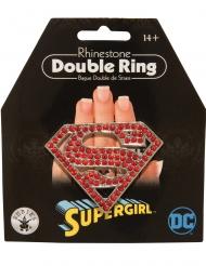 Supergirl™-Doppelring für Damen Schmuck rot