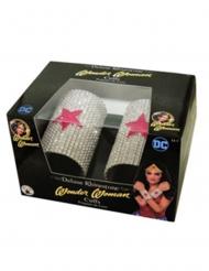 Wonder Woman™-Armbänder mit Strasssteinen silber-rot