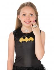 Batgirl™-Superhelden-Schmuck-Set für Kinder 4-teilig silberfarben