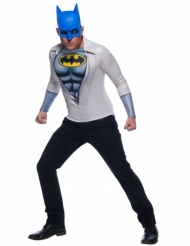 Batman™-Kostüm-Set Shirt und Maske Lizenz grau-weiss-blau