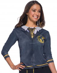 Hufflepuff™-T-Shirt für Damen Harry Potter™-Lizenz grau-gelb