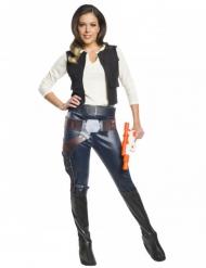 Han Solo™-Damenkostüm Star Wars™-Lizenz-Verkleidung bunt